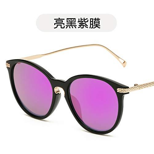 y Gafas Gafas Tendencia Color Sol Brillante de black de Sol de Moda Hombre Bright de de de Moda de Sol Burenqiq Mujer Negro de Sol de purple film Gafas de Gafas Película Color vaqH5d