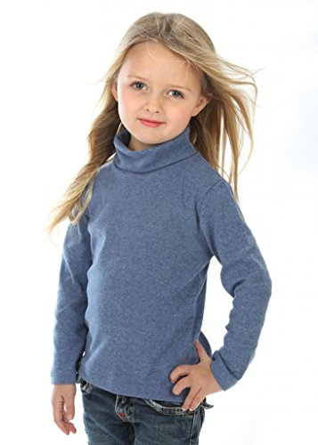 high5 Little Girls solid Color Turtleneck 100% Cotton Size 4 ()
