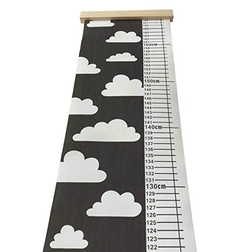 owhelmlqff-Wall Hanging,Home Pendant,Nordic Children Height Ruler Canvas Hanging Growth Chart Kids Room Wall Decor - White Cloud