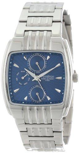 Armitron Men s 20-4396BLSV Silver-Tone Stainless Steel Square Multi-Function Dress Watch