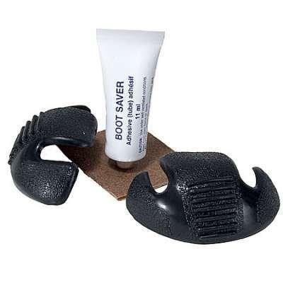 Boot Saver Toe Guards Work Boots Protector - Boot Toe Cover/Repair 1 Pair (Black)