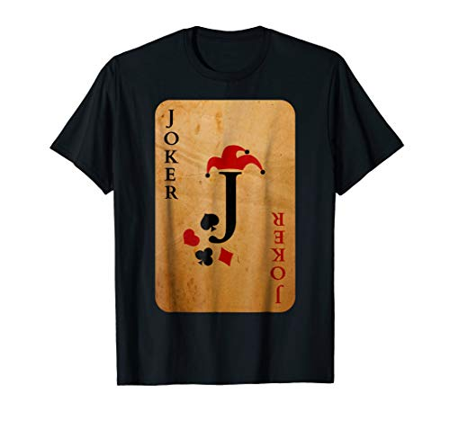 Joker Card Costume T-Shirt Halloween Deck of Cards ()