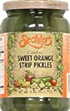 Sechlers Candied Sweet Orange Strip Pickles, 16 Ounce (Pack of 6)