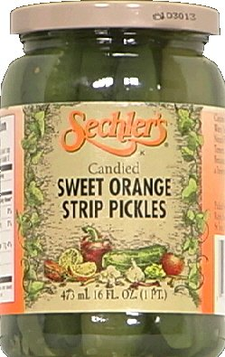 Candied Sweet (Sechler's Candied Sweet Orange Strip Pickles, 16 Ounce (Pack of 6))