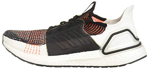 adidas Men's Ultraboost 19 Running Shoe, Black/White/Solar Orange, 14 M US