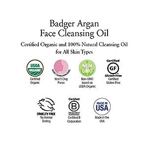 Badger Argan Face Cleansing Oil - 2 fl oz Glass Bottle