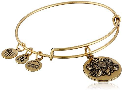 Alex and Ani Lotus Peace Petals III Expandable Rafaelian Bangle Bracelet