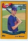 Joe Mauer baseball card (Minnesota Twins All Star) 2016 Topps #BB51 2002 Rookie Reprint