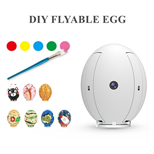 KAI DENG K130 ALPHA Flying Egg, RC DIY Painting Drone for Kids with Wifi 480P Camera, Quadcopter Altitude Hold(Remote Controller Included)
