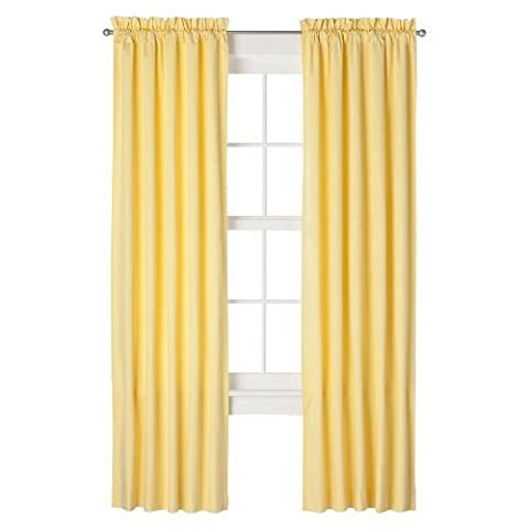 Eclipse Kids Miley Blackout Window Panel - Yellow (42