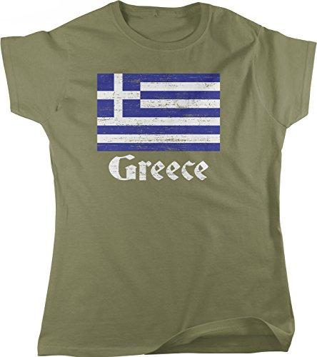 fan products of Hoodteez Flag Of Greece, Greek Flag, Hellas Pride Women's T-Shirt, Moss