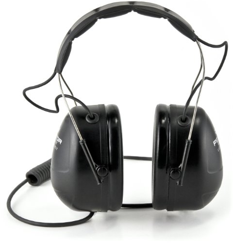 3M Peltor Listen-Only Headset, MP3 and 2-Way Radio Compatible, Hearing Protection, Gray, Ear Protection, NRR 25 dB, Excellent for heavy equipment operators, airport workers, racing, and construction by 3M