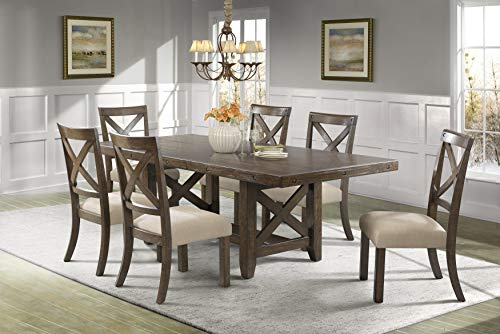 - Picket House Furnishings Francis 7 Piece Dining Set in Chestnut