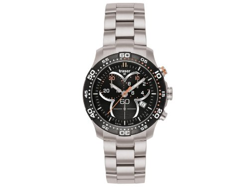 Traser H3 Ladytime Black Chronograph Ladies Watch T7392.2AH.G1A.01 / 100298