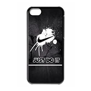 The logo of Nike for Apple iPhone 5C Black Case Hardcore-4 by supermalls