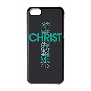 fashion case Bible Verse - I can do all things through Christ who gives me strength. Phillippians 4:13 pattern for black plastic iphone 5s wZMklty6jiY case cover