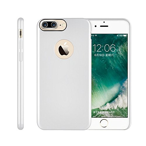 iPhone 7 Plus Case, Remex [Ultra Thin Luxury PC] Stand Feature Anti-Scratch And Non-Slip And Simple fashion design Case Cover for Apple iPhone Plus 7 (2017)(Silver)