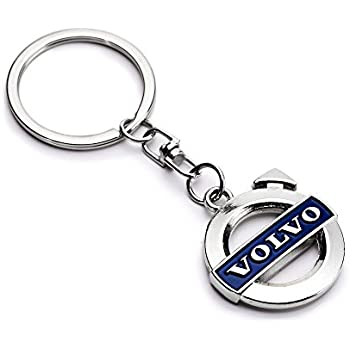Amazon.com: Volvo Blue Logo 3D Chrome Plated Key Chain Ring ...