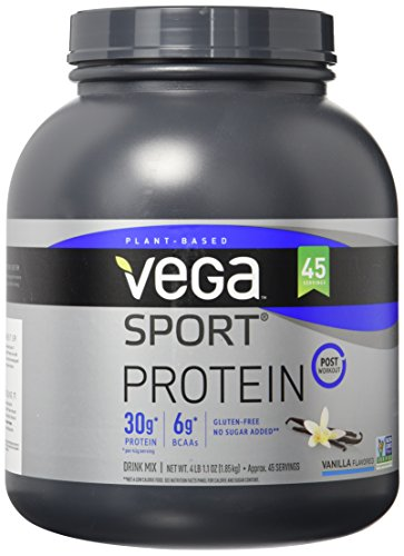 Vega Sport Protein Powder, Vanilla, 65.1 Ounce, 45 Servings
