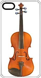 Standing Violin White Plastic Case for Apple iPhone 5 or iPhone 5s