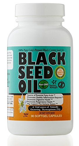 Premium Black Seed Oil Cold Pressed Soft-Gels, 90 Count 500MG (Nigella Sativa) Cumin by Sweet Sunnah