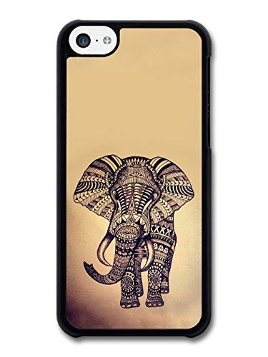 Illustration of Aztec Elephant Retro Cool and Cute coque pour iPhone 5C