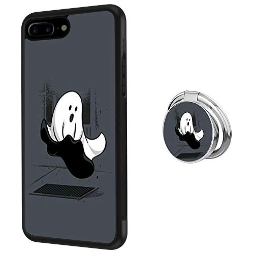 Hynina Phone Case and Phone Ring Buckle Compatible for iPhone 7 Plus 8 Plus - Ghost