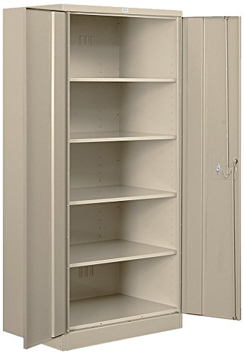 Salsbury Industries Heavy Duty Assembled Storage Cabinet, 78-Inch High by 24-Inch Deep, Tan ()