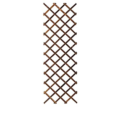 Flower Racks Plant Shelf Solid Wood Wall Mounted Indoor Decoration Rack Hanging Flower Rack for Balcony Living Room Fence Rack 60x186cm