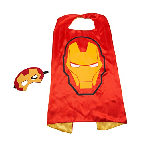 Superhero Iron Man (Red Ironman Superhero Kids Cape and Mask Set)