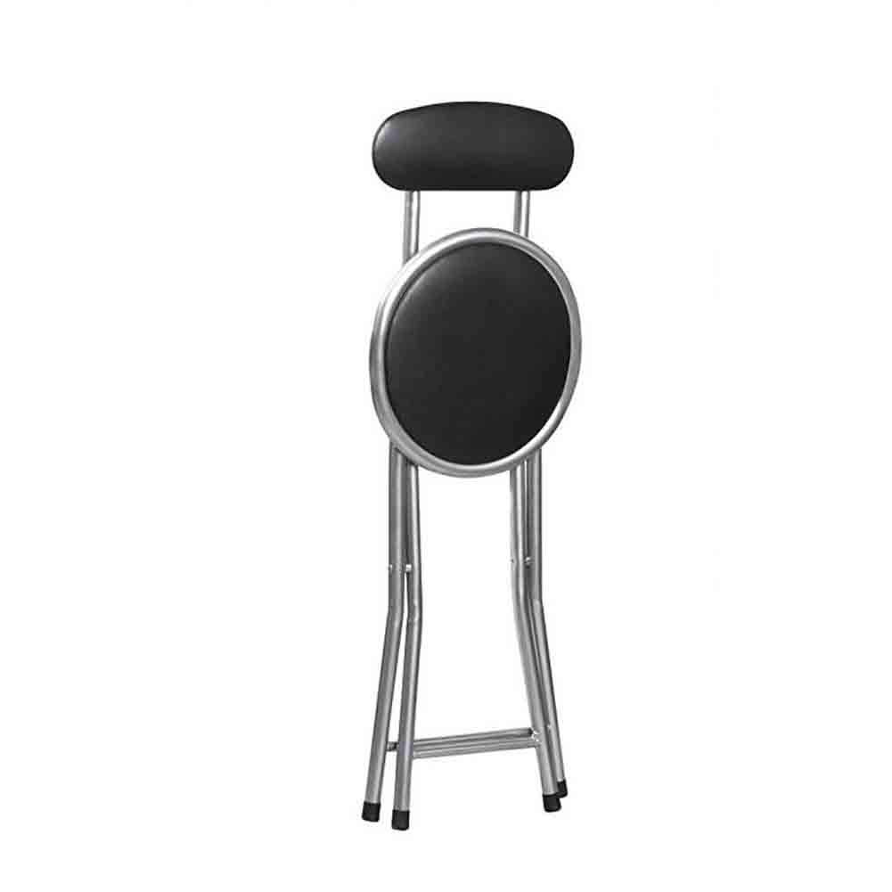 Magnificent 30 5Cm Portable Folding Chair 46 Dldl Black Round Padded Unemploymentrelief Wooden Chair Designs For Living Room Unemploymentrelieforg