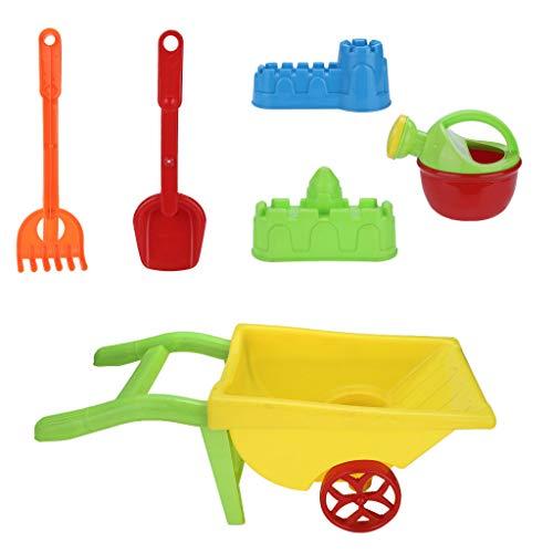 Jiayit US Fast Shipment Small Cart Beach Toy Set 6pc Kids Beach Toys Set Molds Tools, Sandbox Toys On Summer Beach Holiday