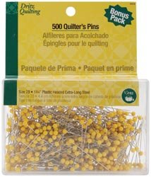 Dritz Quilting Quilter's Pins Econo Pack 1 3/4 inch 500 Pack 3009 (1-Pack) by Dritz
