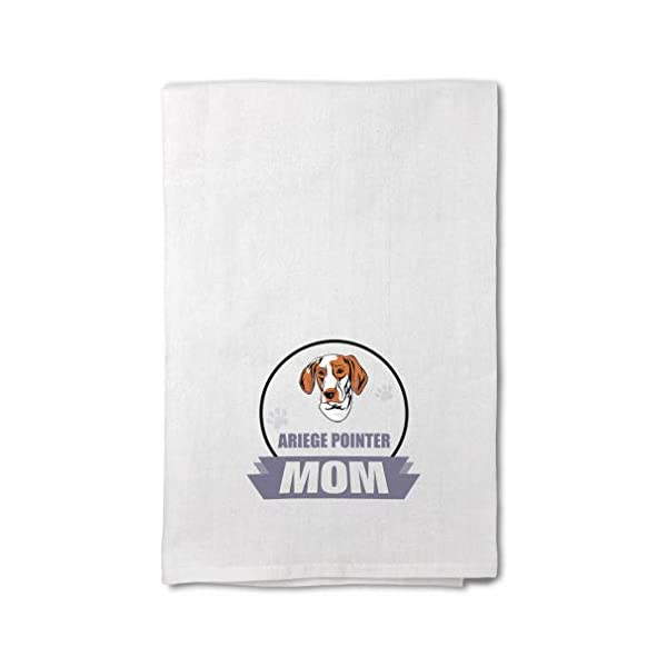 Style In Print Custom Decor Flour Kitchen Towels Mom Ariege Pointer Dog Pets Dogs Cleaning Supplies Dish Towels Design Only 1