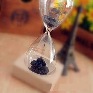 Fangfeen Reloj de Arena Mano-soplado Imán Base de Madera artesanía de Reloj de Arena para el Regalo de Escritorio decoración del hogar 3