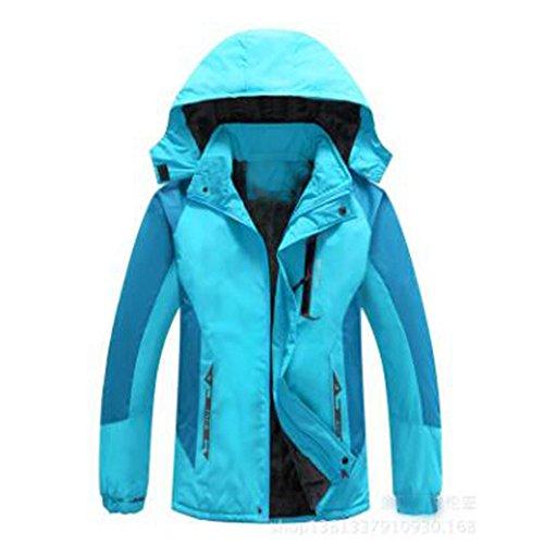 Impermeabile Lai Snappy Spessa Wu Alpinismo Cappuccio Giacche Blue Con Outdoor Sport New Lady Caldo 8qF41