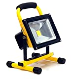 20w LED Light Work Portable Rechargeable Hi Power Cordless Floodlight Waterproof IP65 COB 12v LED Light Hand Lamp, LED Flood Lights Daylight White