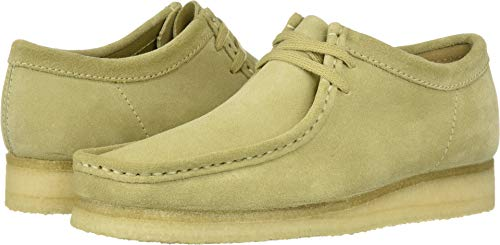 CLARKS Men's Wallabee Moccasin, Maple Suede, 80 M US