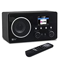 Ocean Digital Wifi Bluetooth Internet Dab Portable Radio WR282CD - DAB/DAB+/FM - 26,000 Radio Stations, 10W Output with Rich Bass - Radio Antenna Tuner, Bluetooth Receiver with 3.5mm Aux-in - Alarm Clock, 2.4inch Display and Remote Control - Black
