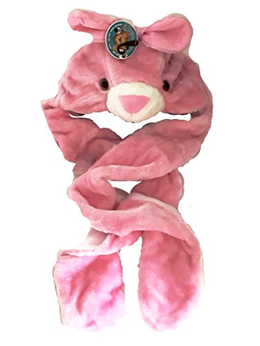 Snood Rosa Chapka Bufanda de madera Fur Kids Guantes Chef Conejo Animal vtx0qfU