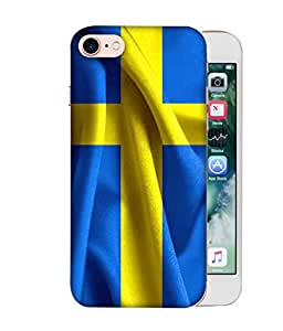 ColorKing Football Sweden 01 Blue shell case cover for Apple iphone 8