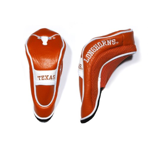 (Team Golf NCAA Texas Longhorns Hybrid Golf Club Headcover, Hook-and-Loop Closure, Velour lined for Extra Club Protection )