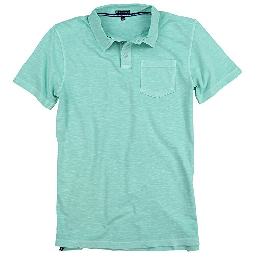 One Chest Pocket (Urban Boundaries Men's Garment Dyed 100% Cotton Polo w/Pockets (Seafoam, X-Large))