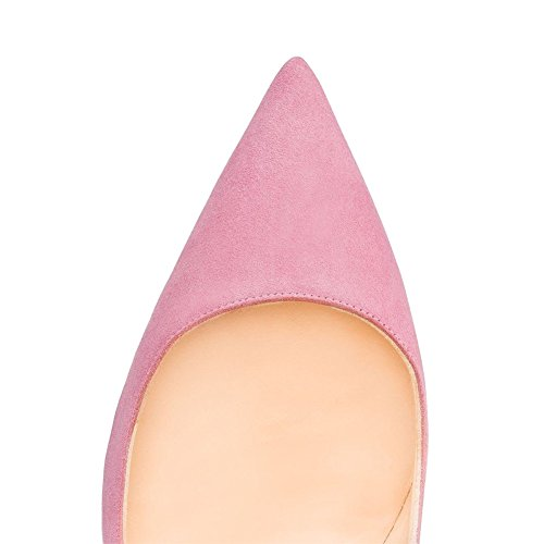 MERUMOTE - Con punta mujer Pink-Faux Suede