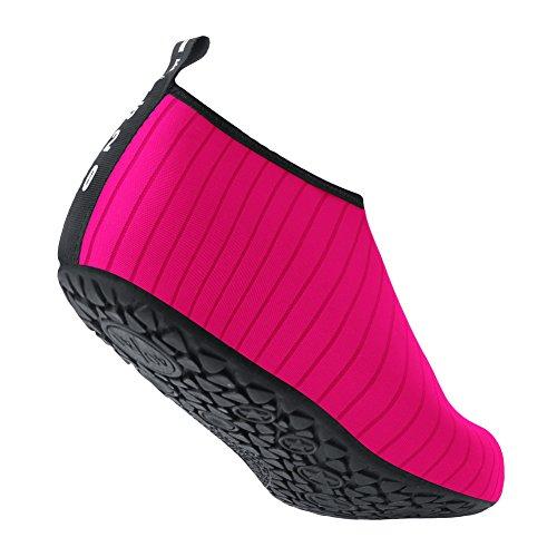 Skin Barefoot JIASUQI Surf Socks Shoes Water Pool Dry Yoga Peach Beach Aqua Men's Swim Exercise for Quick Stripe Women's xqqBA1Y8