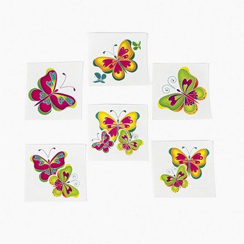 (Kids Temporary Butterfly Tattoos -)