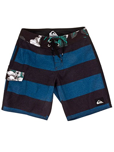 Quiksilver Big Boys Printed Swim Shorts, 8 - 16 Years Blue Size 12 Years - 59 In. - Quiksilver Men Jeans Slim Fit