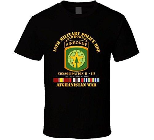 2XLARGE - Army - 16th Mp Bde - Afghanistan War W Svc T-shirt - Black ()