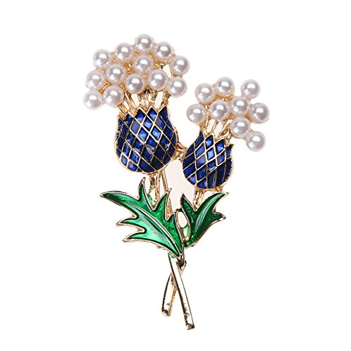 Pineapple Glazed - ForU-1 Alloy Drop Glazed Pearls Pin Pineapple Tree Brooch