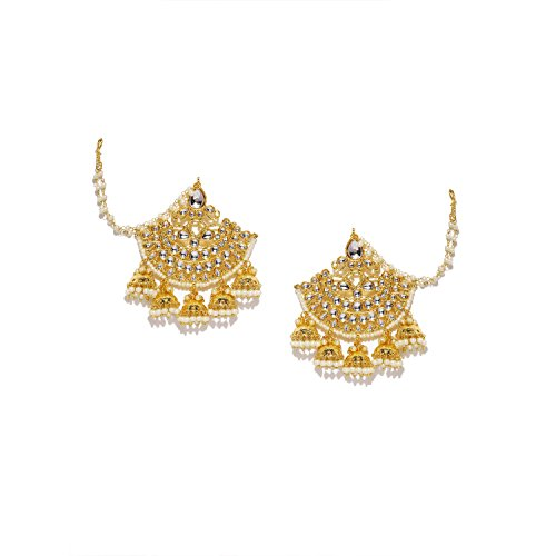 Jewelry Sets Constructive Indian Jewelry Gold Tone Pearl Kundan Mina Earrings Wedding Pakistani Jhumka Fashion Jewelry Buy Now